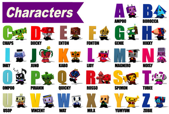 cartoon characters and names